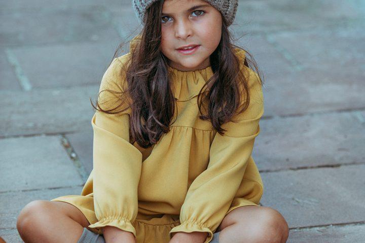 Vestido amarillo. Mayores 019